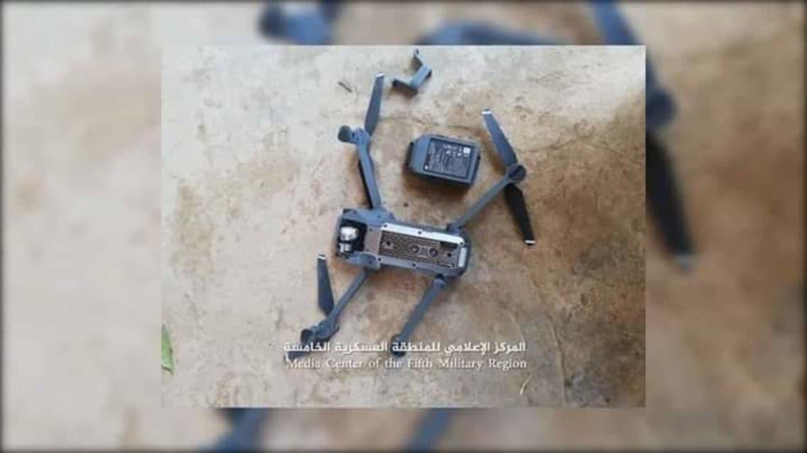 الجيش اليمني يسقط طائرة درون حوثية في مديرية حيران