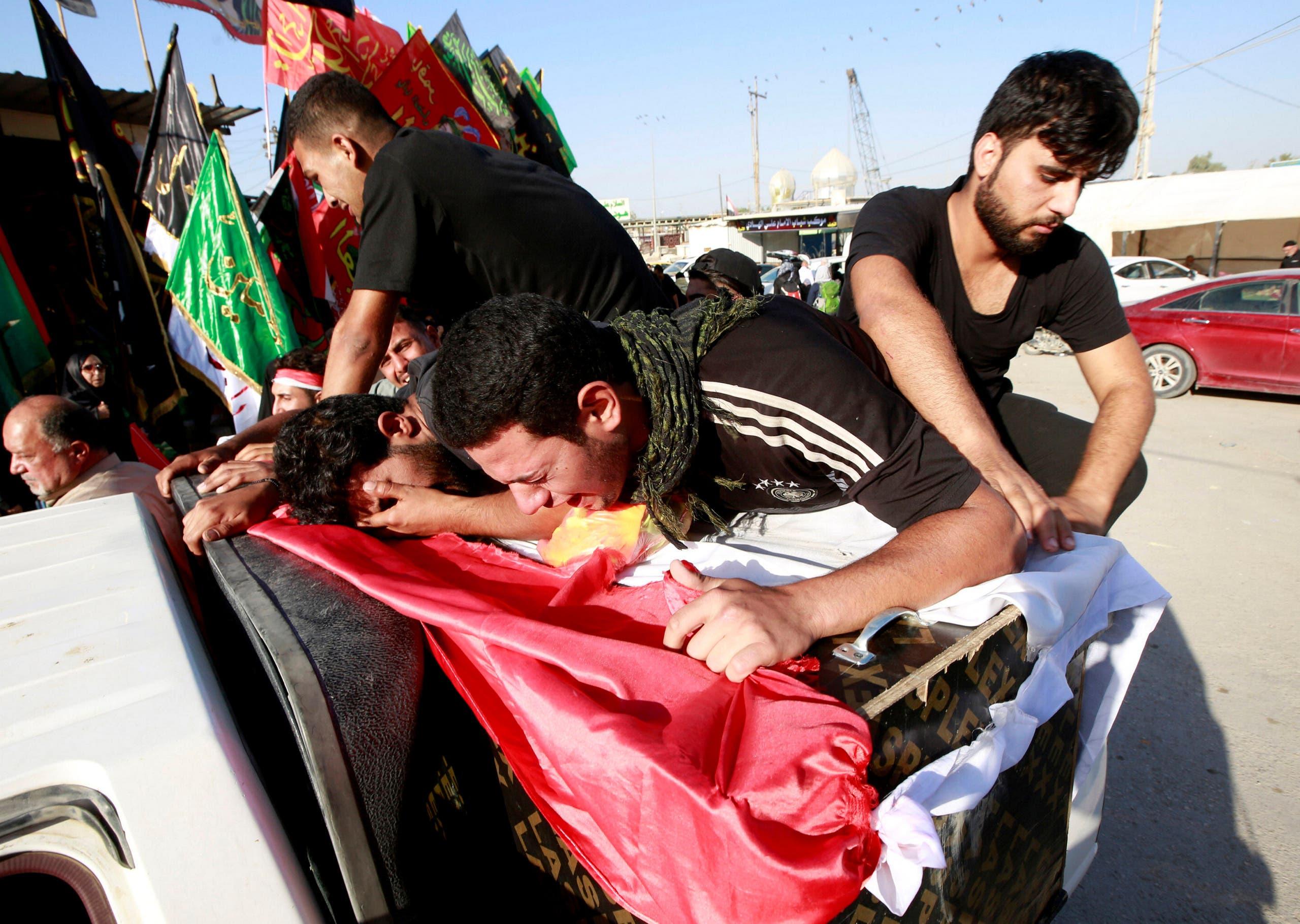 من مظاهرات العراق(  5 أكتوبر-رويترز)