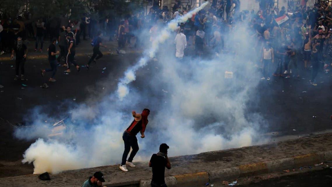 THUMBNAIL_ المظاهرات في بغداد والمحافظات الجنوبية تدخل يومها السادس