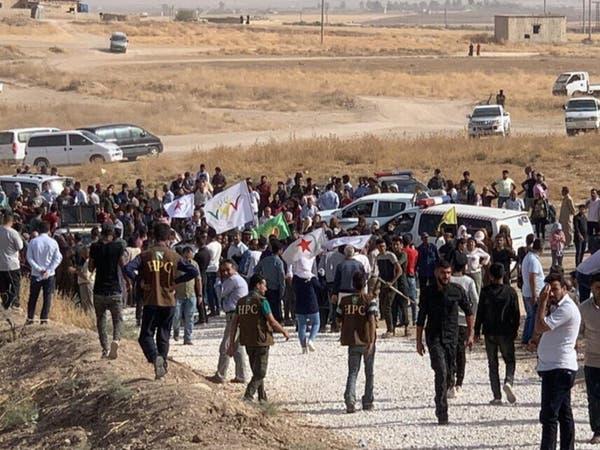 تظاهرة كردية ضد التهديد التركي بشن هجوم في سوريا