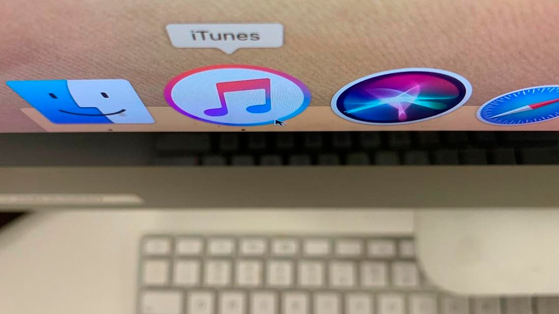 The iTunes application is displayed on a computer on Monday, Oct. 7, 2019, in New York. (AP)