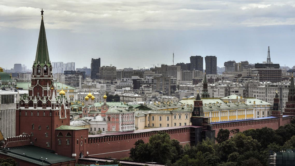 A view of the Kremlin and Red Square in downtown Moscow
