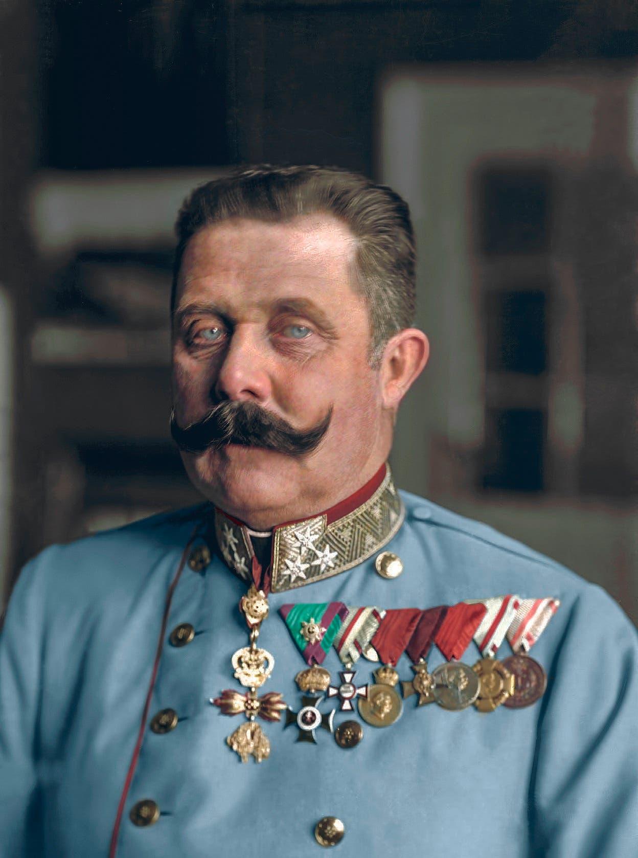 صورة ملونة اعتماداً على التقنيات الحديثة لولي عهد النمسا
