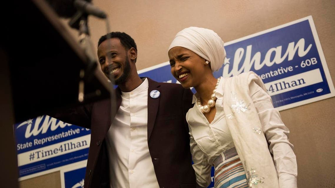 """US Rep. Ilhan Omar has filed for divorce from her husband, citing an """"irretrievable breakdown"""" of her marriage. (AFP)"""