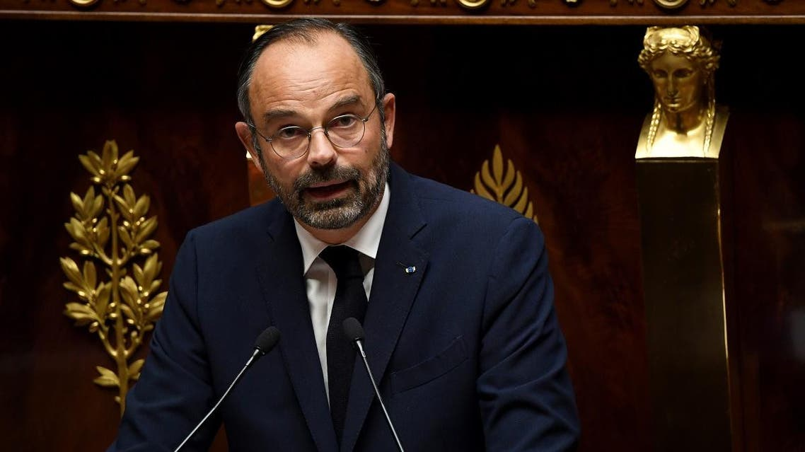 French Prime Minister Edouard Philippe delivers a speech during a debate about the immigration policy of France at the National Assembly in Paris, on October 7, 2019. (AFP)