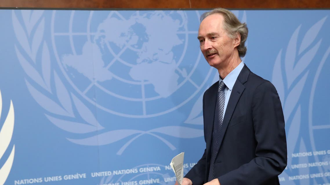 U.N. Special Envoy Geir Pedersen attends a news conference at the United Nations in Geneva REUTERS