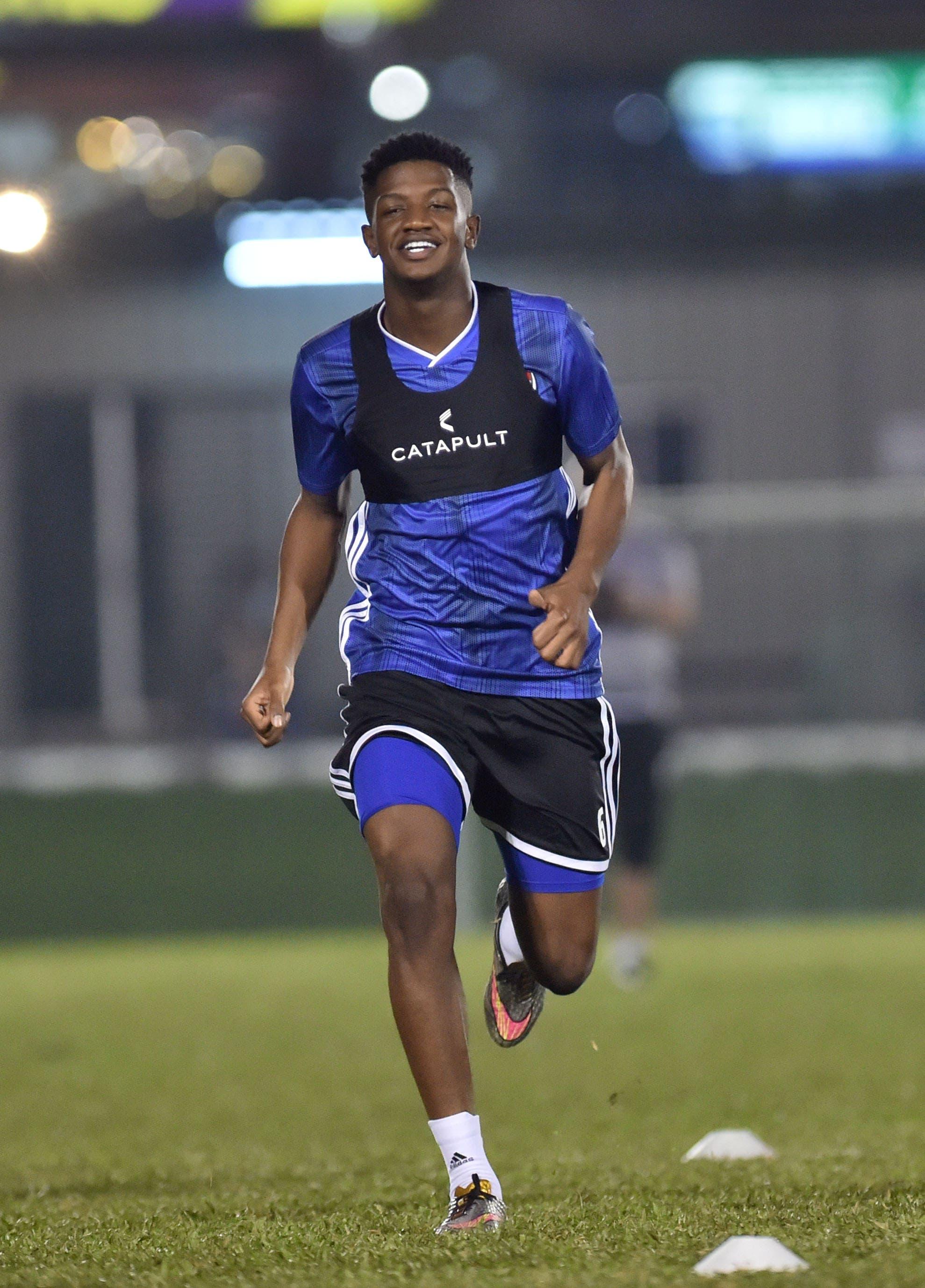 ماجد سرور في تدريبات سابقة مع المنتخب الإماراتي