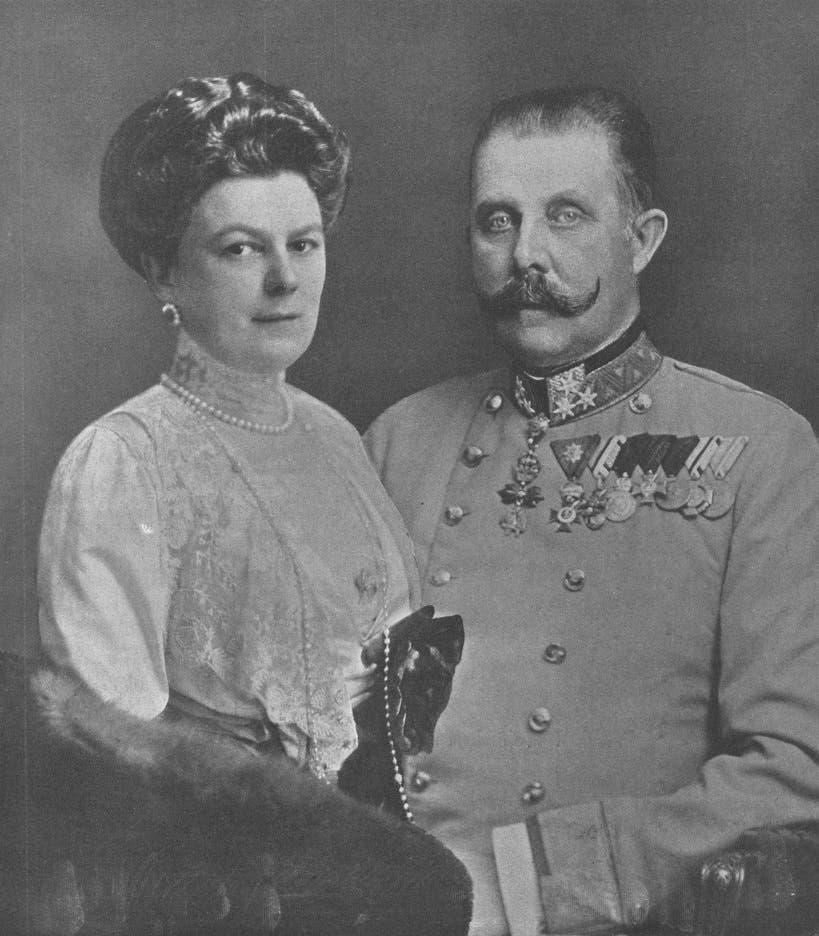 صورة لولي عهد النمسا وزوجته صوفي