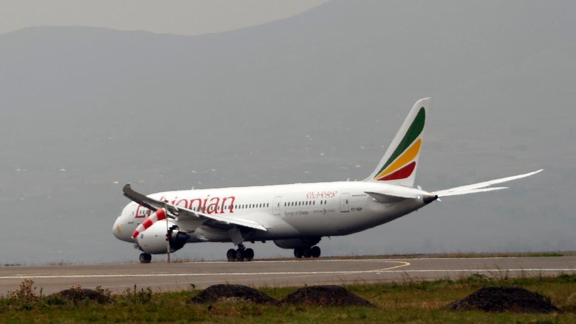 Ethiopian Airliner 787 Dreamliner prepare to take off from Addis Ababa, Saturday, April 27, 2013.