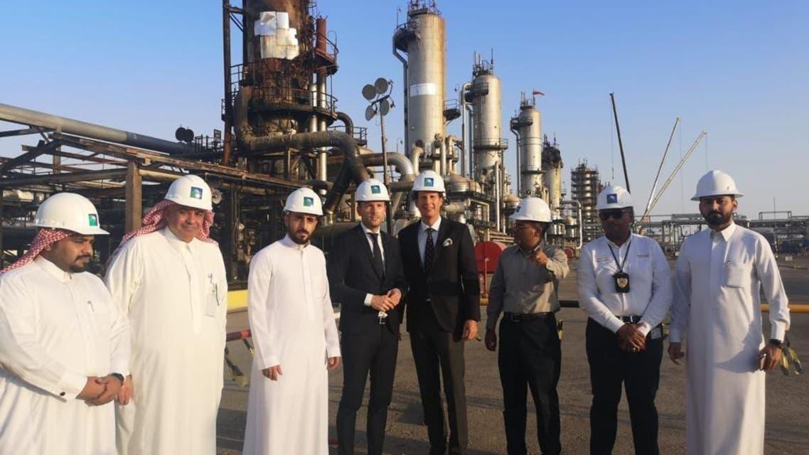 German parliament members visit Abqaiq (supplied)