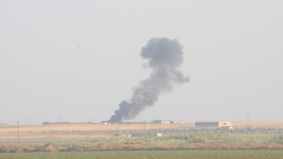 دخان جراء القصف التركي