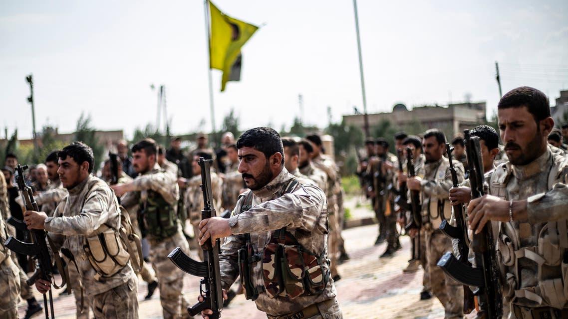 عناصر من قوات سوريا الديمقراطية(أرشيفية- فرانس برس)