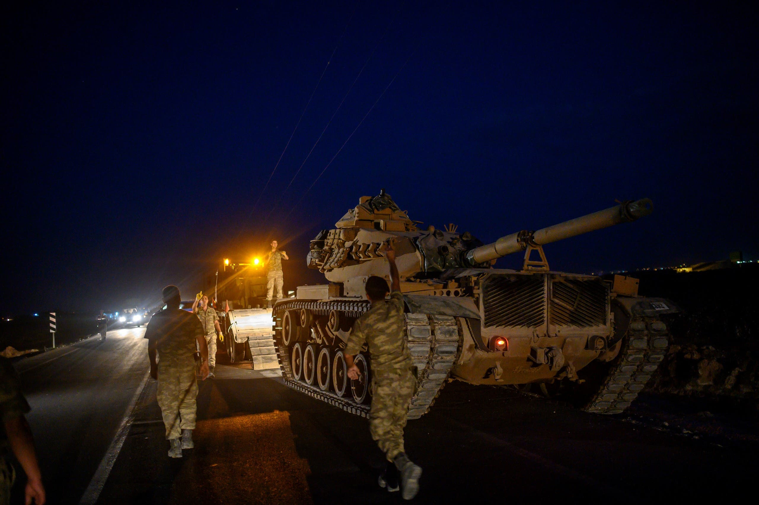آليات عسكرية تابعة للجيش التركي