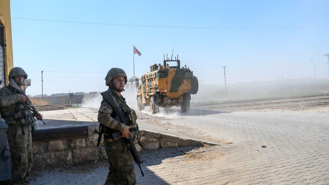 آليات تركية شمال سوريا(فرانس برس)
