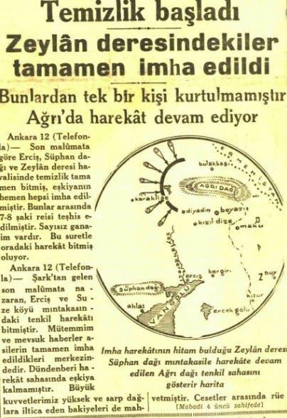 مقال بجريدة جمهوريات التركية يتحدث عن الإبادة بزيلان