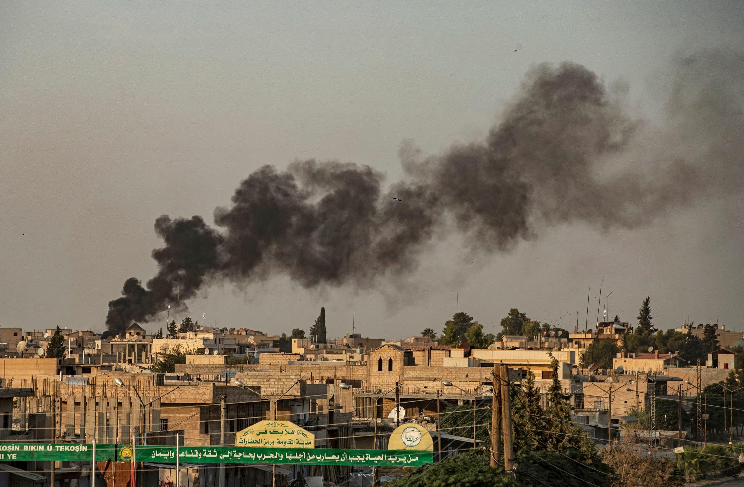 قصف تركي على بلدات شمال شرق سوريا (فرانس برس)