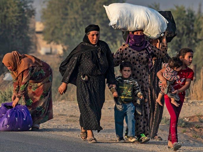 فصائل موالية لتركيا تقصف بلدة بريف الحسكة ونزوح للأهالي