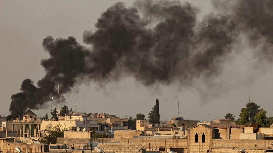 النيران تتصاعد جراء القصف التركي على رأس العين