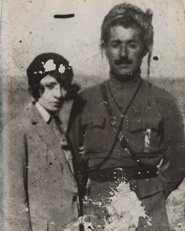 صورة للقائد الكردي إحسان نوري رفقة زوجته