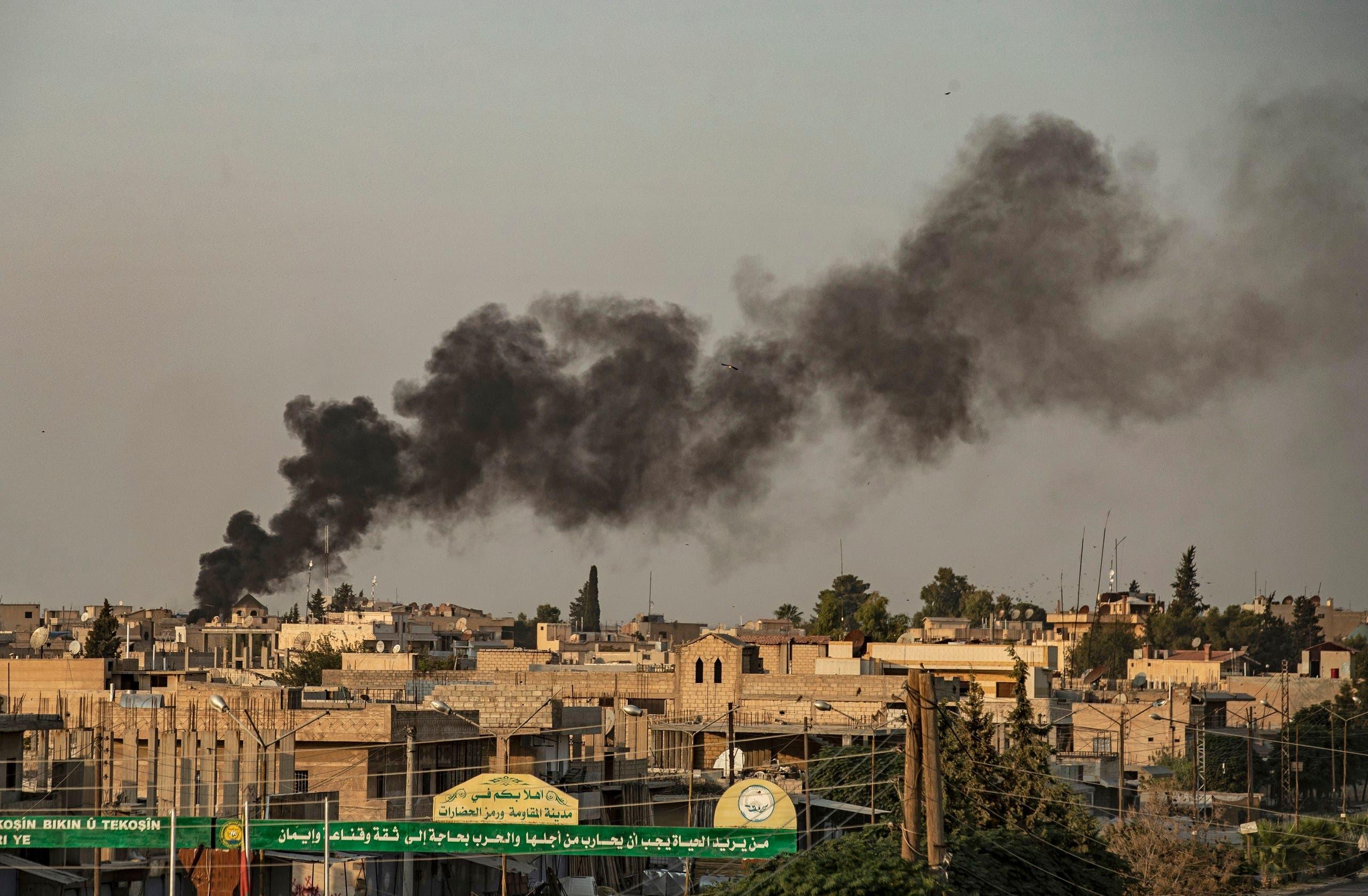 آثار القصف التركي على سوريا