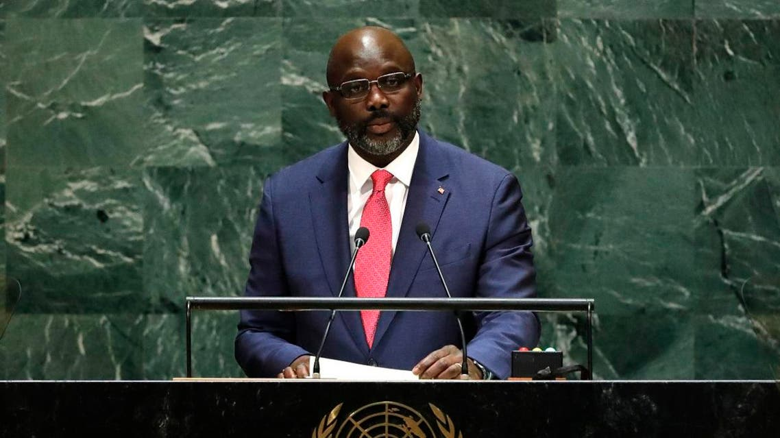 Liberia's President George Manneh Weah addresses the 74th session of the United Nations General Assembly at UN headquarters. (File photo: Reuters)
