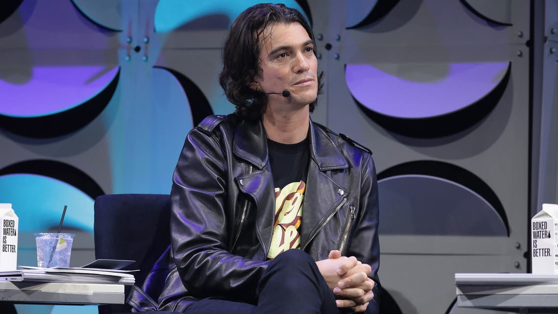 NEW YORK, NY - JANUARY 17: Judge, Co-founder and CEO of WeWork, Adam Neumann appears on stage as WeWork presents Creator Awards Global Finals at the Theater At Madison Square Garden on January 17, 2018 in New York City. Cindy Ord/Getty Images for WeWork/AFP