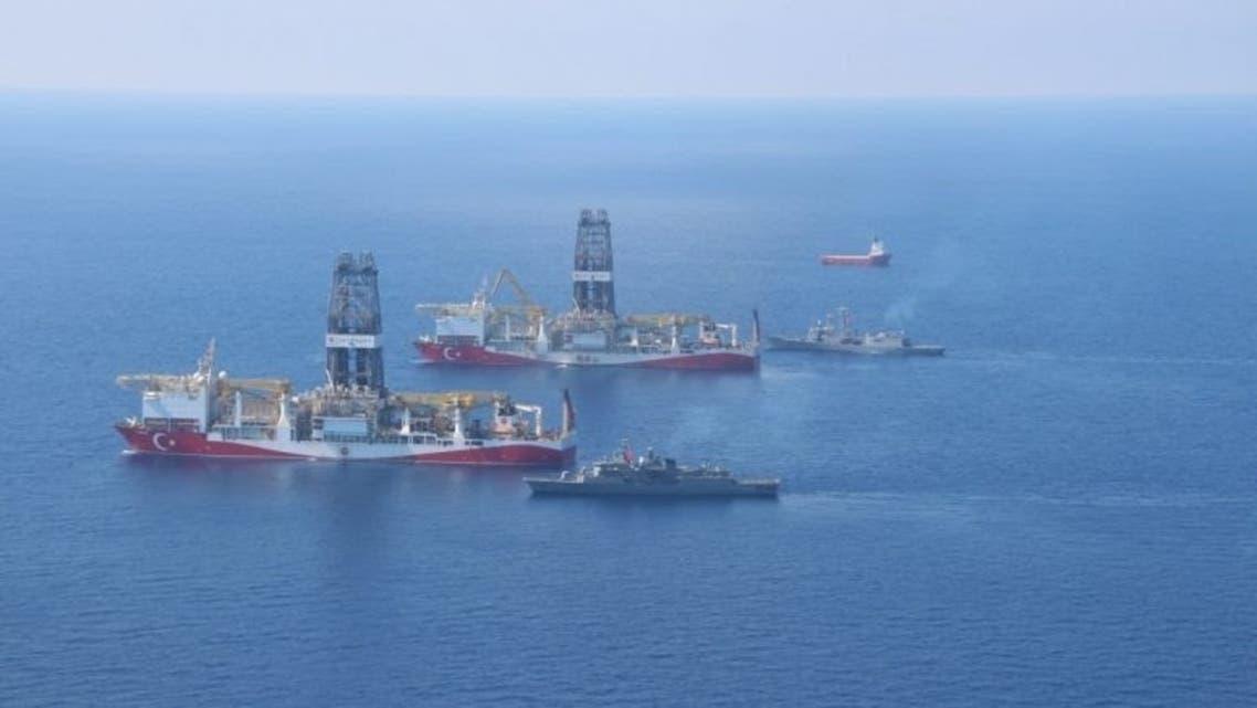 السفن التركية في طريقها للمياه القبرصية