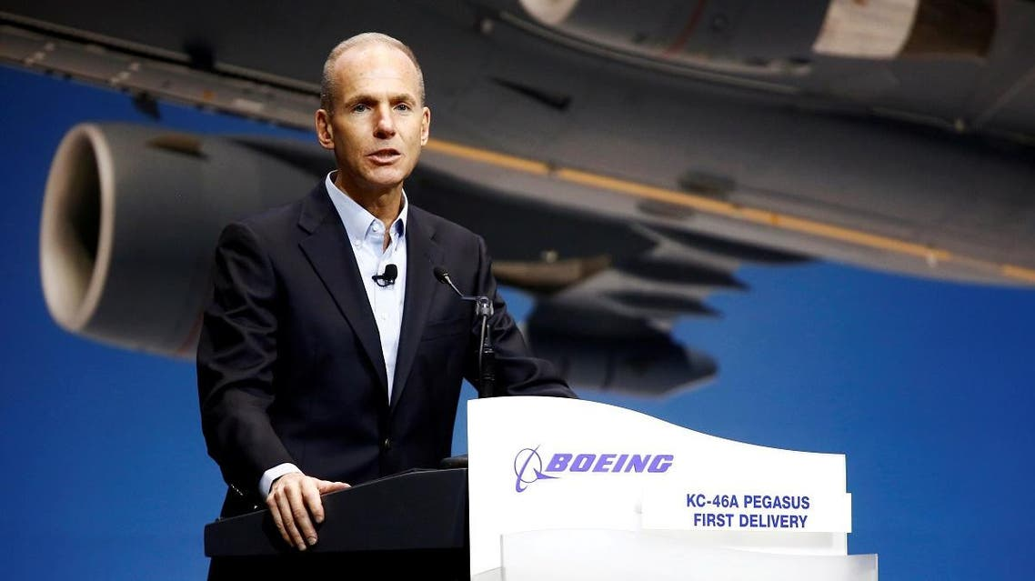 Boeing Chairman, President and CEO Muilenburg speaks during a delivery celebration of the Boeing KC-46 Pegasus aerial refueling tanker to the U.S. Air Force in Everett, Washington. (File photo: Reuters)