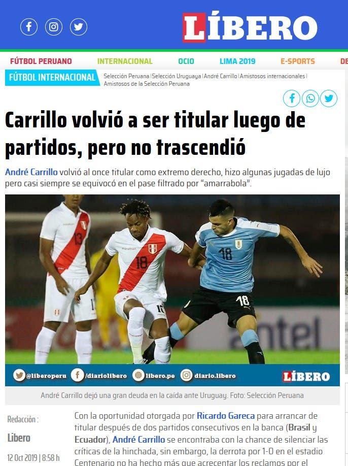 تقرير الصحيفة البيروفية