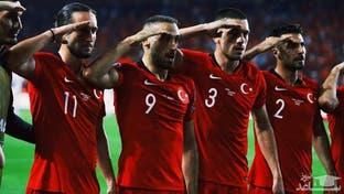 سلام نظامی بازیکنان ترکیه همزمان با حمله اردوغان به سوریه