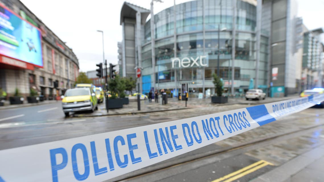 Police tape is seen outside the Arndale shopping centre after several people were stabbed in Manchester, Britain October 11, 2019. REUTERS