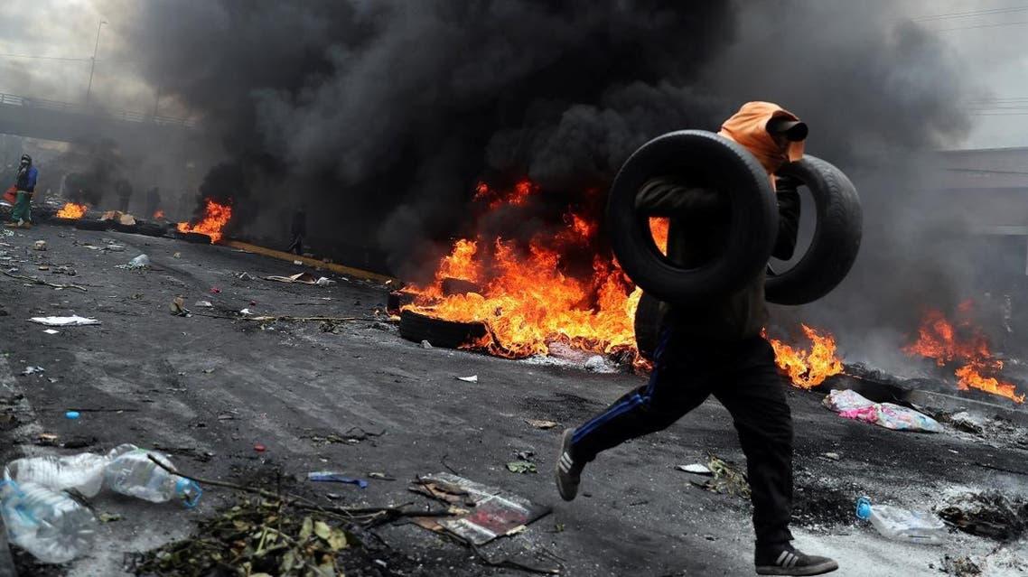 Protest against Ecuador's President Moreno's austerity measures in Quito. (Reuters)