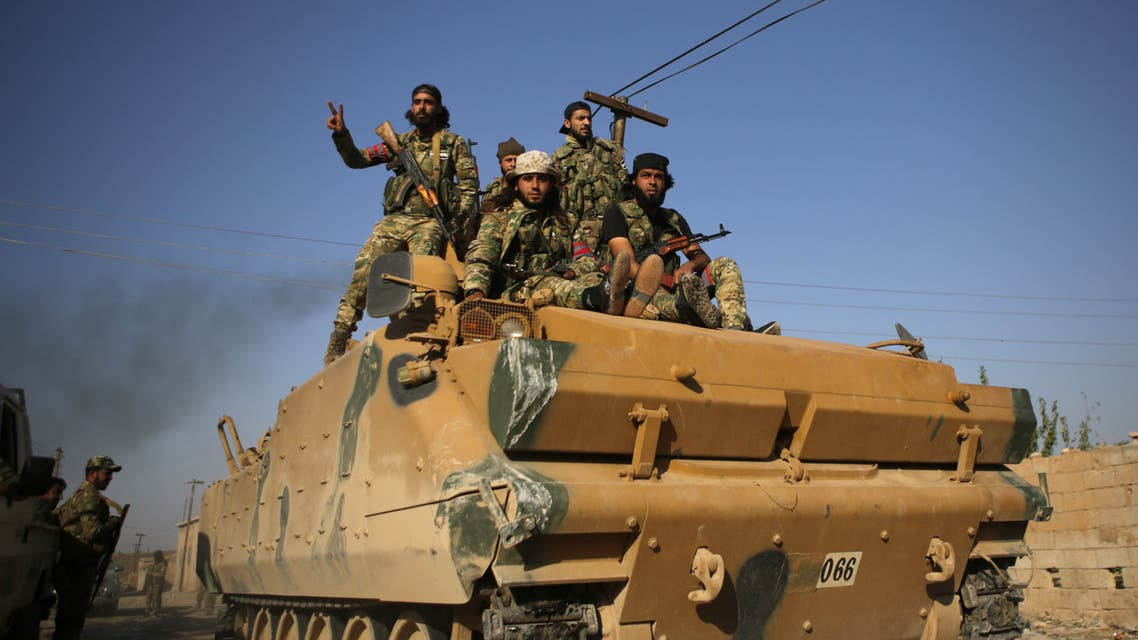 عناصر من فصائل موالية لتركيا شمال سوريا(فرانس برس)