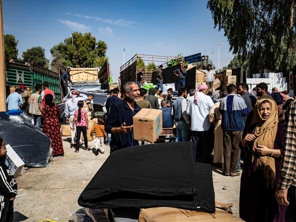 شاهد.. ظروف مأساوية لعائلات هاربة من القصف التركي تعبر للعراق
