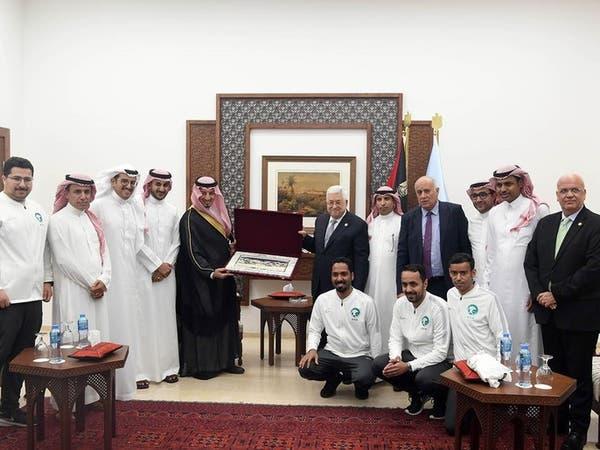 منتخب السعودية يصل رام الله.. وعباس: شرفتم بلدكم فلسطين