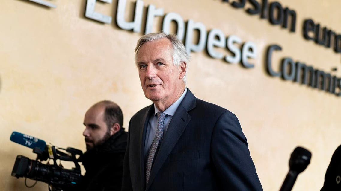 EU Brexit negotiator Michel Barnier arrives at the EU headquarters in Brussels on October 11, 2019 for a meeting with EU ambassadors. (AFP)