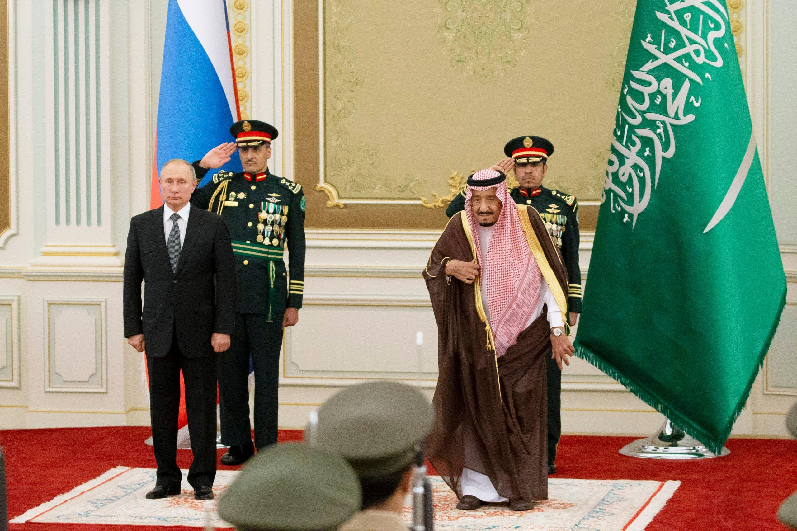 الملك سلمان وفلاديمير بوتين