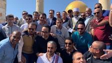 سعودی عرب کی  فٹ بال ٹیم کی دورہ فلسطین کےموقع پرمسجد اقصیٰ میں حاضری