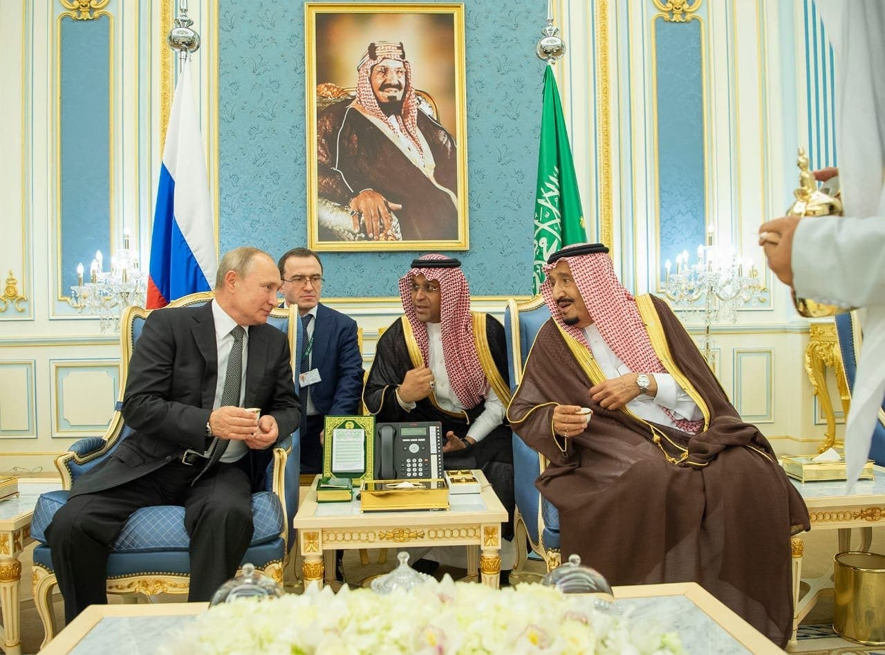 الملك سلمان والرئيس الروسي فلاديمير بوتين