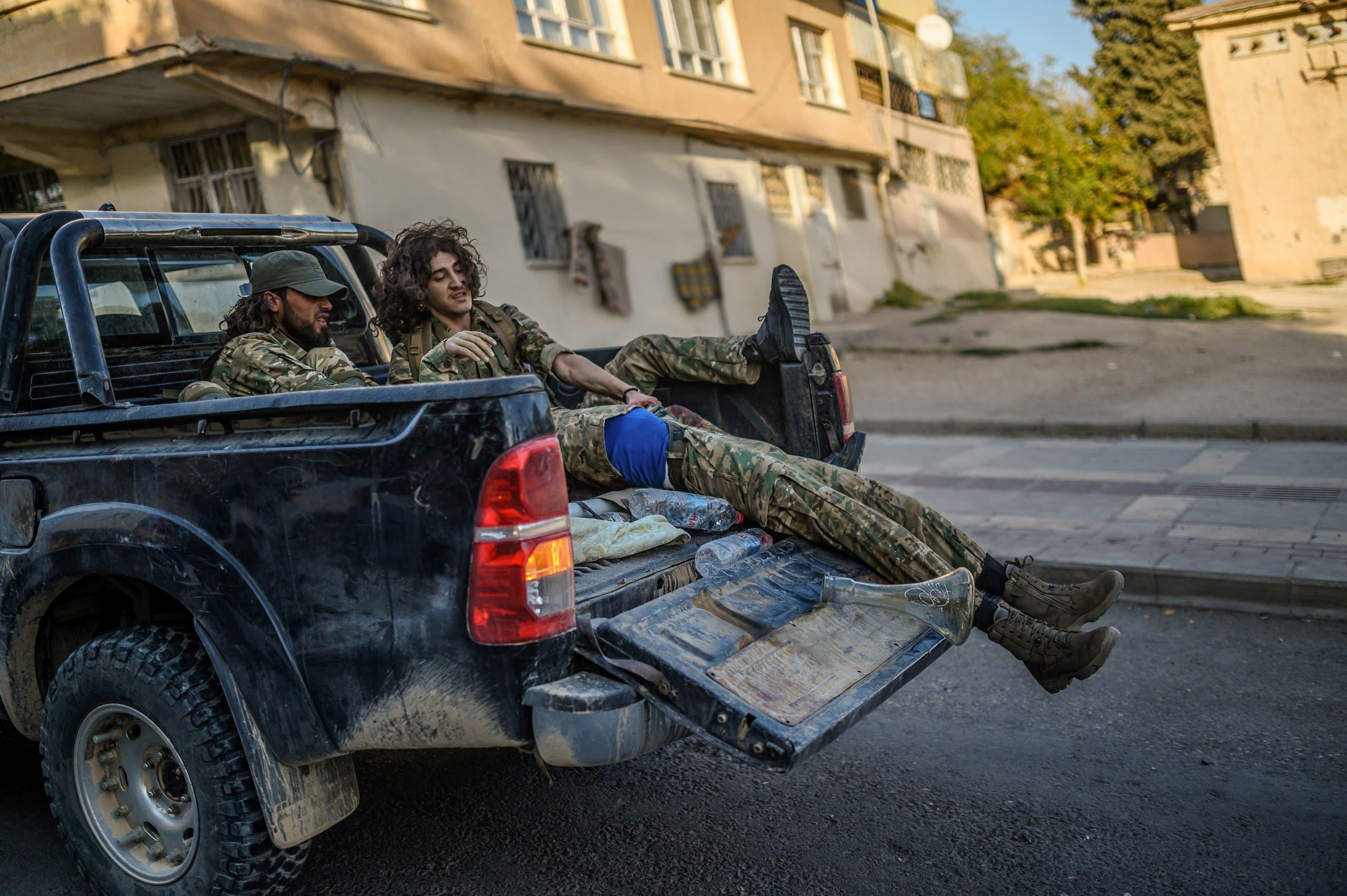 عناصر من فصائل مسلحة موالية لتركيا (فرانس برس)