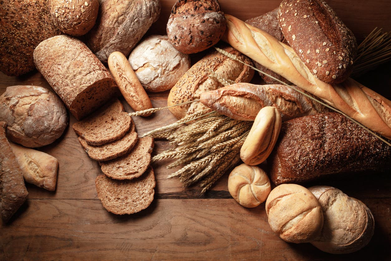 Different types of bread. (Stock image)