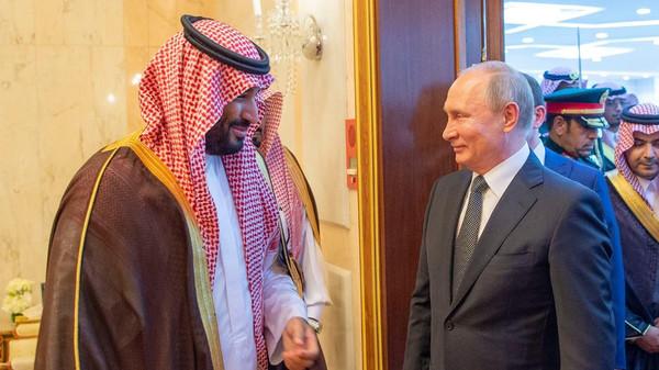 سعودی ولی عہد شہزادہ محمد سے روسی صدر کی ملاقات،دونوں ممالک میں تعاون کے فروغ کا عزم