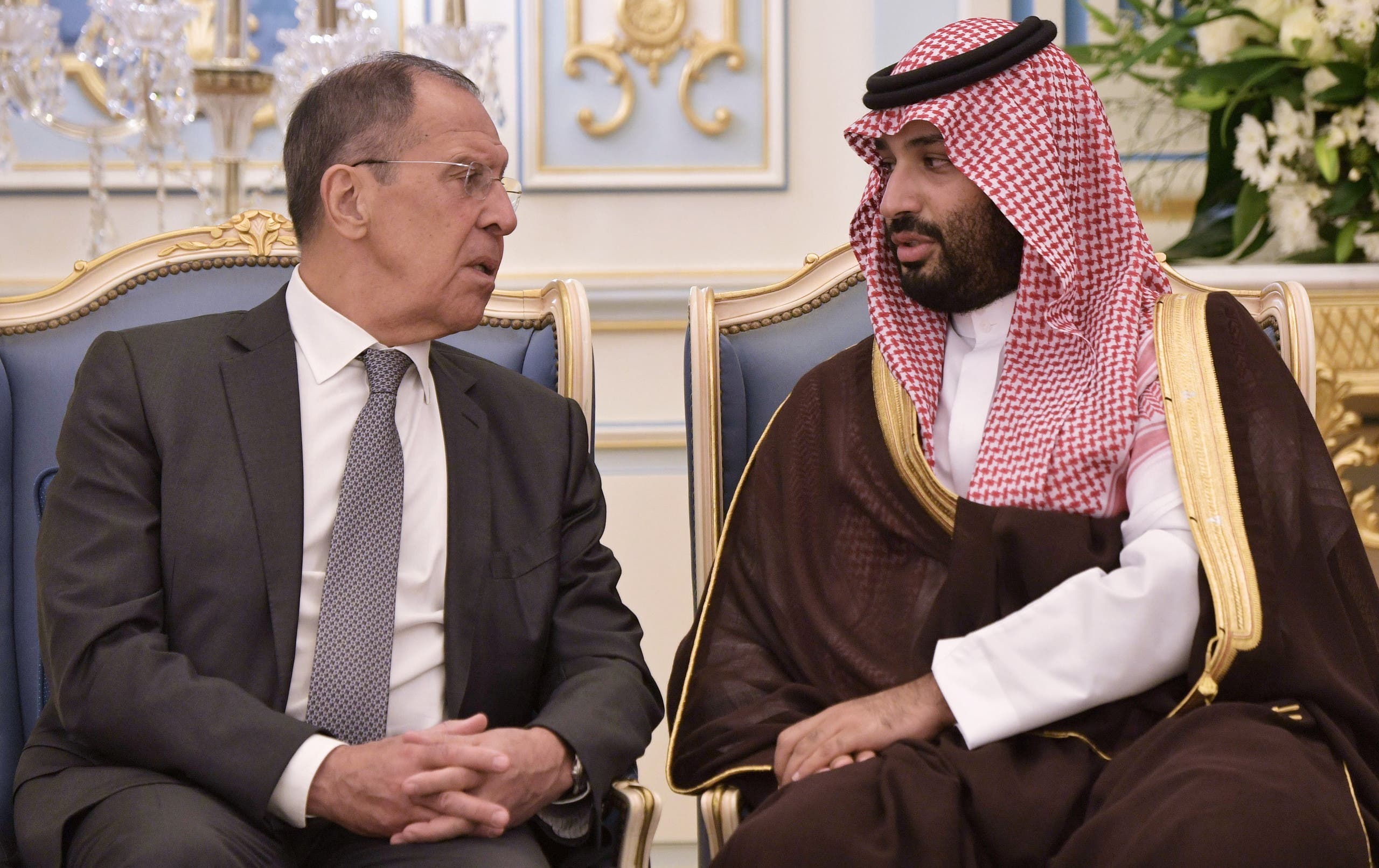 محمد بن سلمان ووزير الخارجية الروسي سيرغي لافروف