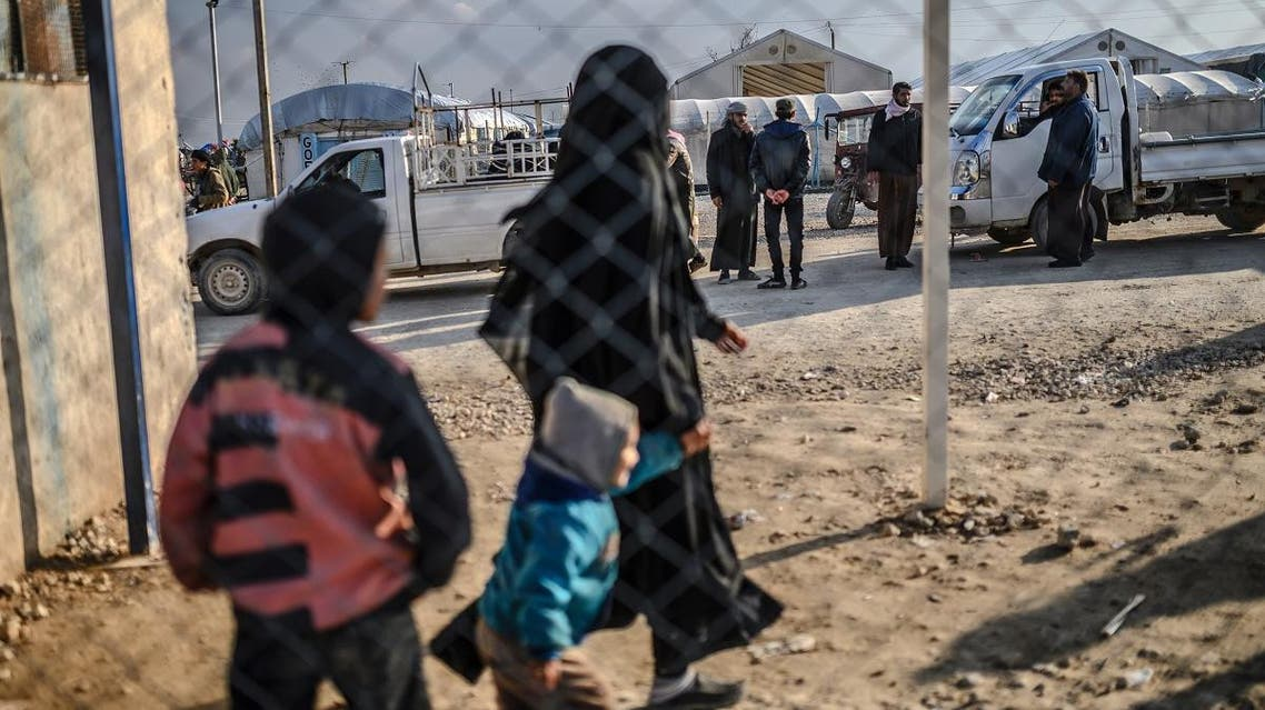 File photo of one a French woman, a wife of an ISIS fighter at al-Hol camp in al-Hasakeh governorate in northeastern Syria on February 17, 2019. (File photo: AFP)