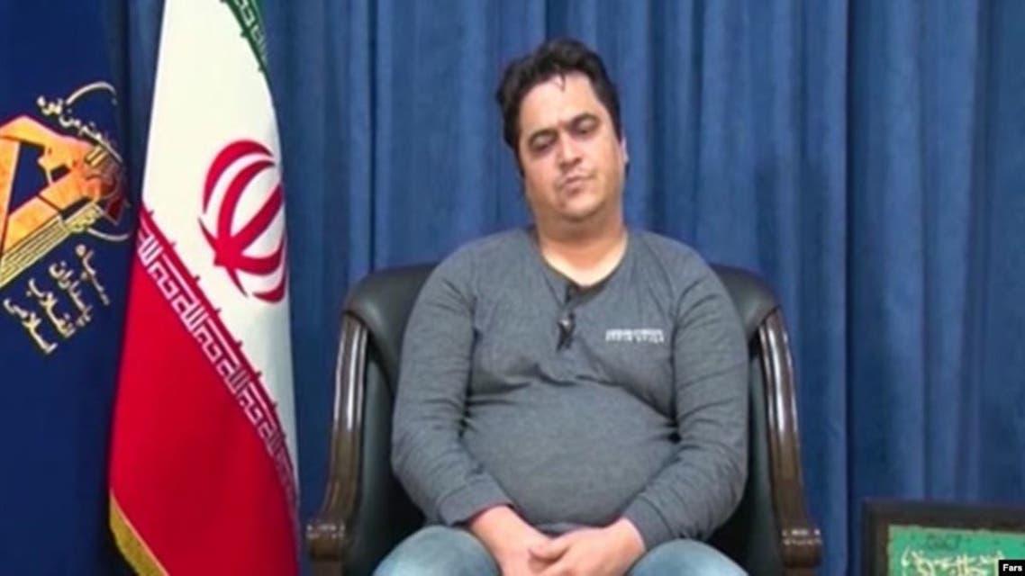 روح الله زم على التلفزيون الايراني