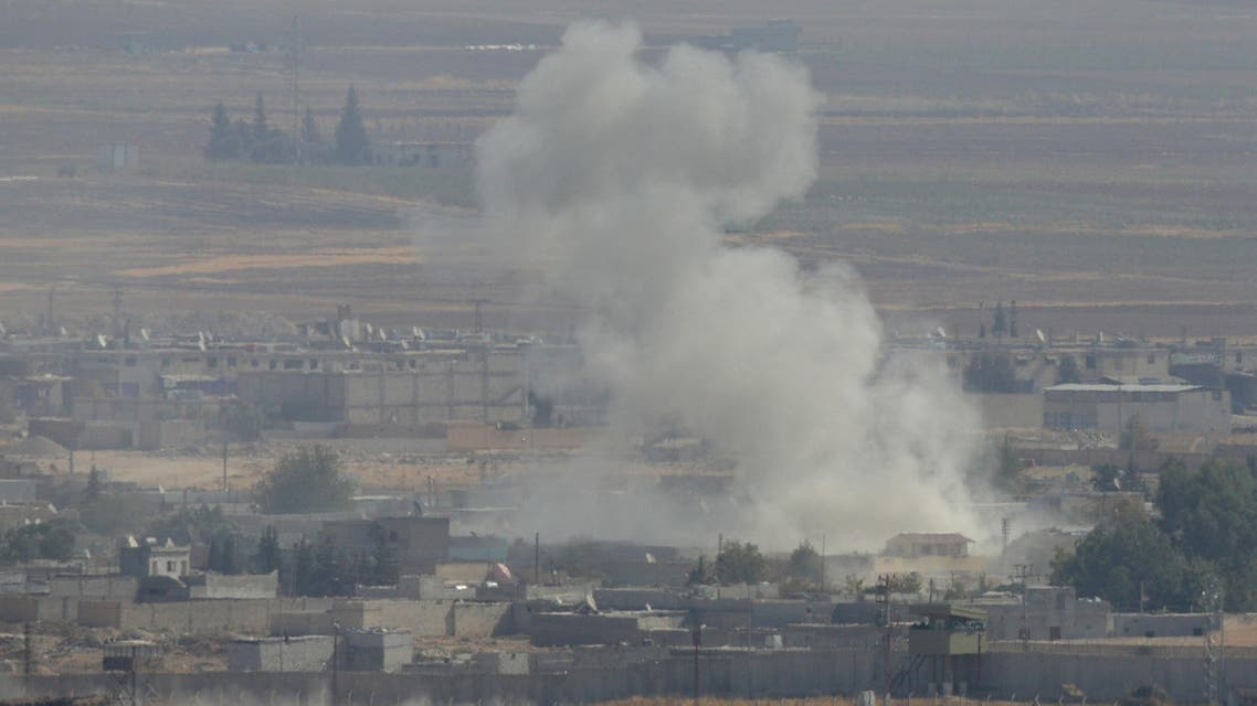 smoke explosion Ras al-Ain Syria Turkey - Reuters