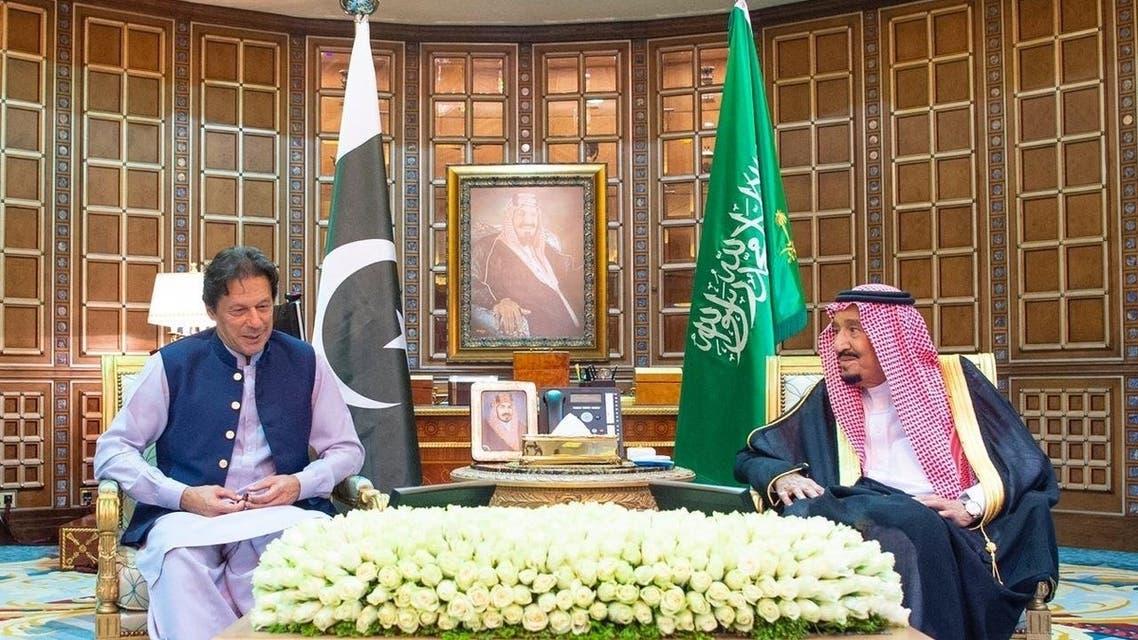 عمران خان والملك سلمان