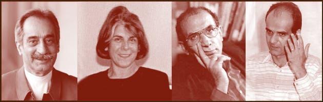 من اليسار- داريوش فروهر وزوجته بروانه اسكندري ومحمد مختاري وجعفر بويندة -من ضاحايا الاغتيالات المسلسلة