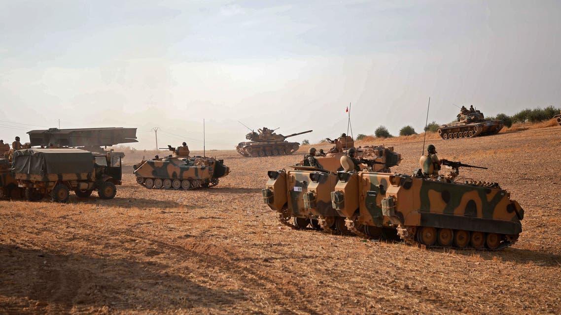 فصائل مسلحة موالية لتركيا شمال سوريا(فرانس برس)
