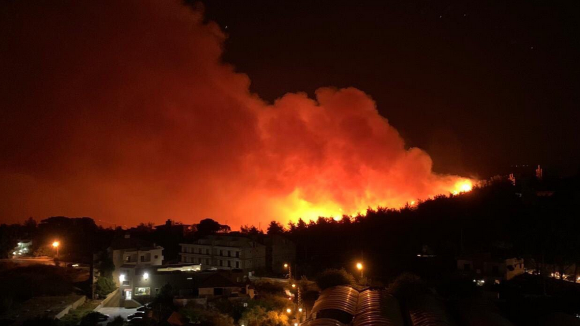 forest fire in lebanon (twitter)